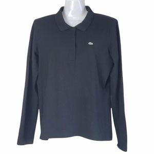 Lacoste Polo Long Sleeve Top Black M/L